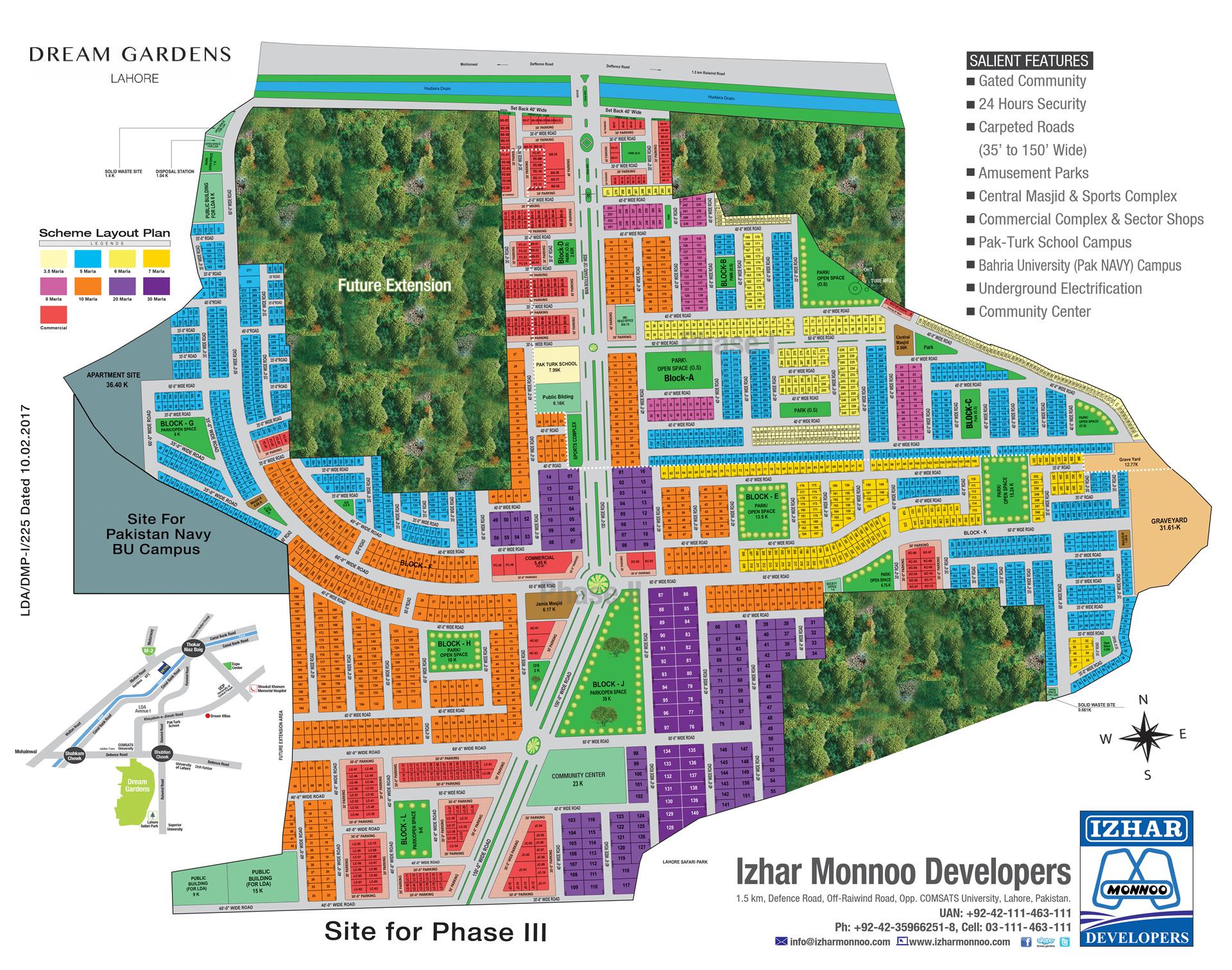 Dream Gardens Lahore : IMD – Izhar-Monnoo Developers