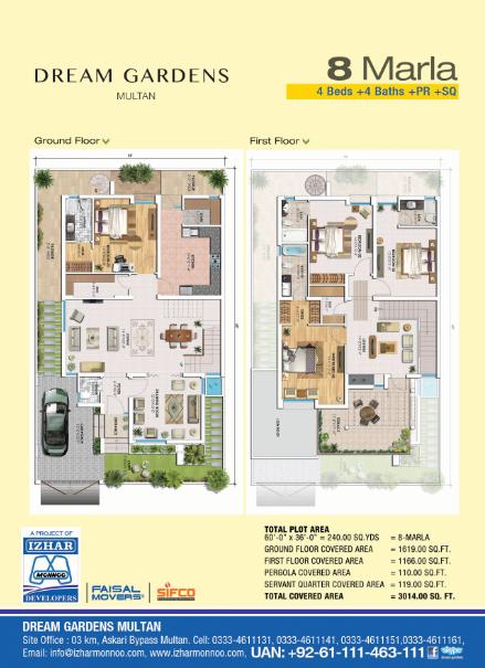Dream Gardens Multan : IMD – Izhar-Monnoo Developers